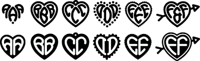 heart monograms harold s fonts