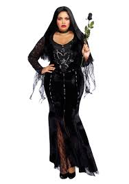 wednesday addams halloween costume mortuary mama plus size costume for women
