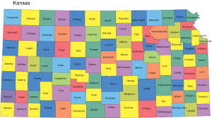 map of counties in kansas map