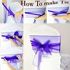 bows for chairs mds pack of 100 organza chair sashes bow sash for