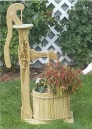 amish wooden garden planter water hand pump flower pot ebay