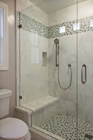 bathroom ideas tile a plain tile type w the same accent for both floor and border