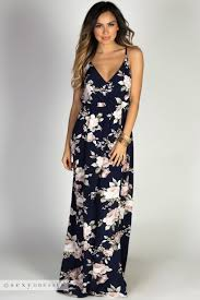 summer maxi dresses summer navy floral print strappy breezy summer maxi dress