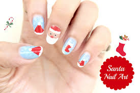 3 easy christmas nail art design santa nail art easy nail art