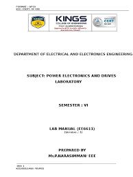 lab course plan ped power electronics power inverter