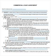 best photos of commercial lease agreement template pdf