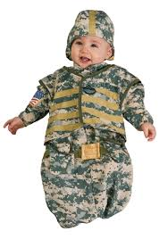 Kids Military Halloween Costumes Army Baby Bunting Costume