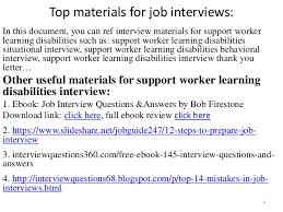 Sample Resume For Disability Support Worker by Top 36 Support Worker Learning Disabilities Interview Questions And A U2026