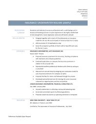 stunning life insurance underwriter resume sample ideas sample