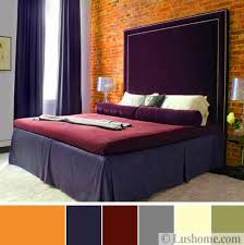 Purple Colour In Bedroom - stylish fall color schemes for interior design and decorating