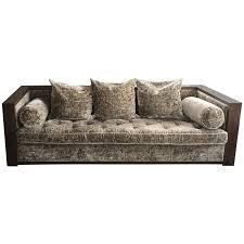 viyet designer furniture seating custom taupe velvet sofa