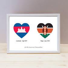 Spain Flag 2014 Personalised Loved Countries Travel Print By Loud Duck Design
