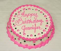 popular girls birthday cake pink black dots