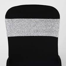 spandex chair sashes 5 pcs silver metallic spandex chair sashes catering wedding party