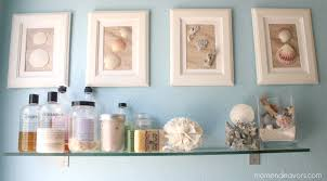 bathroom beach bathroom decor with glass shelf for bathroom