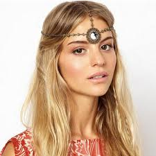 forehead headband 2017 new limited vintage bohemian bronze forehead headband hair
