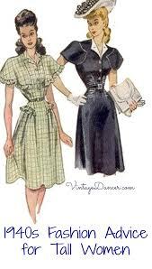 1940s fashion advice for tall women