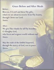 grace before and after meals prayers catholic