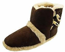 womens boot slippers uk womens slipper boots faux fur lined ankle boot slippers
