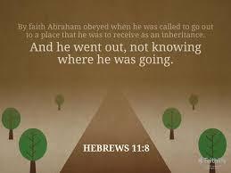 hebrews 11 8