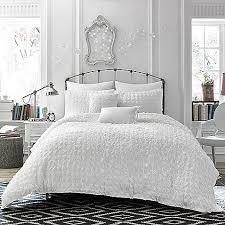Faux Fur Duvet Cover Queen Bedroom Organic Braided Matelasse Duvet Cover Shams Stone White