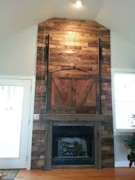 Barn Doors Houston Reclaimed Barnwood Fireplace Barn Door Wicked Old Wood Co