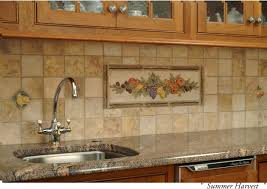 beautiful kitchen backsplash tile decorated with fruit pattern