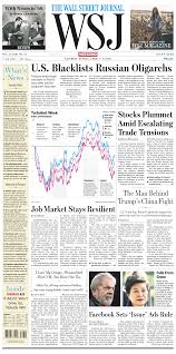The Wall Street Journal April 7 2018