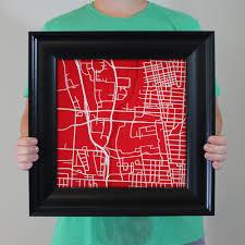 Ohio State Campus Map Ohio State University Campus Map Art City Prints