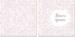 wedding backdrop vector vector template of vintage card floral greeting