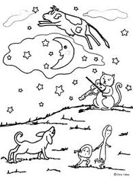 preschool coloring pages nursery rhymes the cow jumping over the moon colouring page nursery rhymes