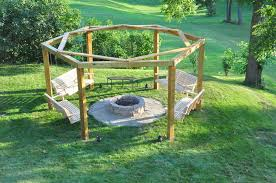 Firepit Bench Porch Swing Pit 12 Steps With Pictures