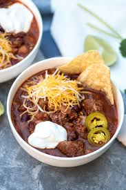 slow cooker double beef and bean chili valerie u0027s kitchen