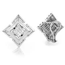 earrings mens 14k gold mens diamond earrings 1 21ct