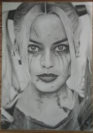 fanart harley quinn pencil drawing by extremegun dc cinematic