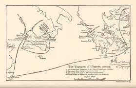 Odyssey Map Map Of Odysseus Journey Poster