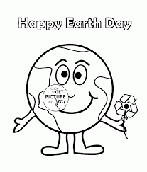 cute earth coloring page for kids coloring pages printables free