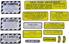 mylar misc decal set 13 pieces farmall parts international
