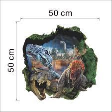 3d dinosaurs through wall stickers jurassic park home