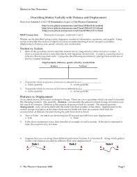 Speed Velocity And Acceleration Worksheet With Answers Motion Worksheet Packet