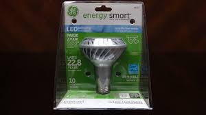 Par30 Led Light Bulb by Ge 10watt Led Par30 Flood Light Bulb Youtube