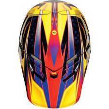 Fox Racing V4 Race Orange Motocross Helmet Casque Enduro Atv Bmx