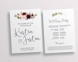 wedding church programs wedding church programs etsy