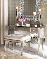 Silver Vanity Table Hayworth Gold Mirror And Vanity