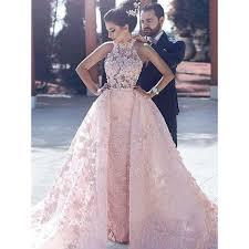 evening wedding dresses custom made flower pink evening wedding dresses fetching
