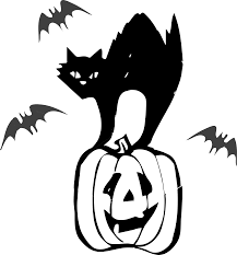 halloween png clipart architetto gatto nero black cat halloween
