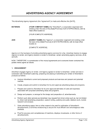 advertising agency agreement template u0026 sample form biztree com