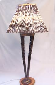 Quill Desk Lamp Horn Base Lamp With Porcupine Quill Shade