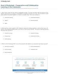 quiz u0026 worksheet cooperative and collaborative learning in the