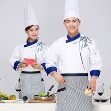 tenu de cuisine femme à manches longues restauant cuisine travailleur tenue chinois
